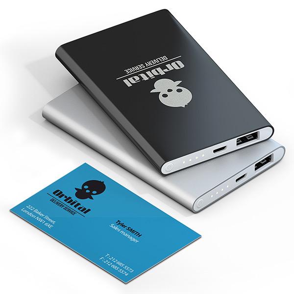 USB Batterie mit Firmenlogo, USB Batterie mit Logo, USB Batterie bedruckt, Werbemittel USB Batterie