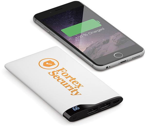USB Batterie Firmenlogo, USB Batterie Logo, USB Batterie bedruckt, Werbemittel USB Batterie