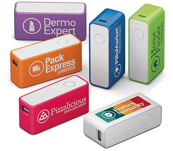 Powerbank Notakku, USB Akku bedruckt, Logo Powerbank, externer Akku, Logo, bedruckt, Firmenlogo